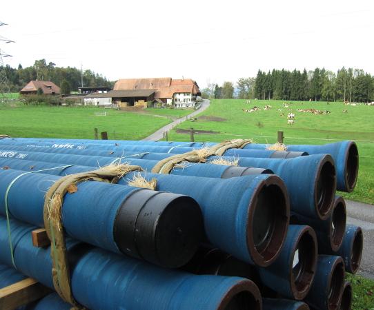 Trinkwasserleitung Rewag-Runtigenrain, Mühleberg