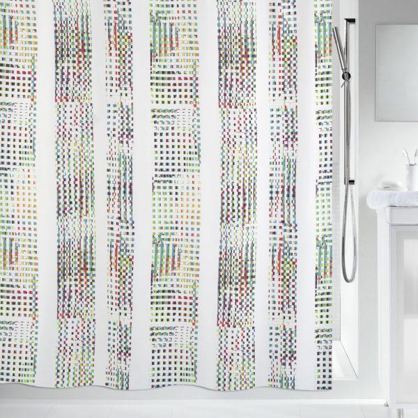 Duschvorhang Spirella Analog Textil