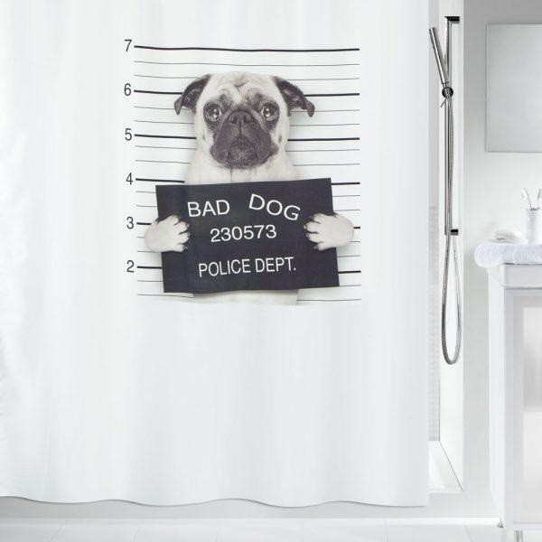 Duschvorhang Spirella Bad Dog Textil
