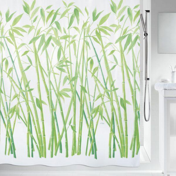 Duschvorhang Spirella Bambus Textil