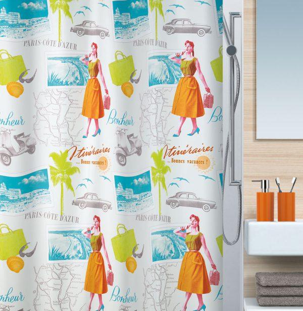 Duschvorhang Spirella Fifties Textil