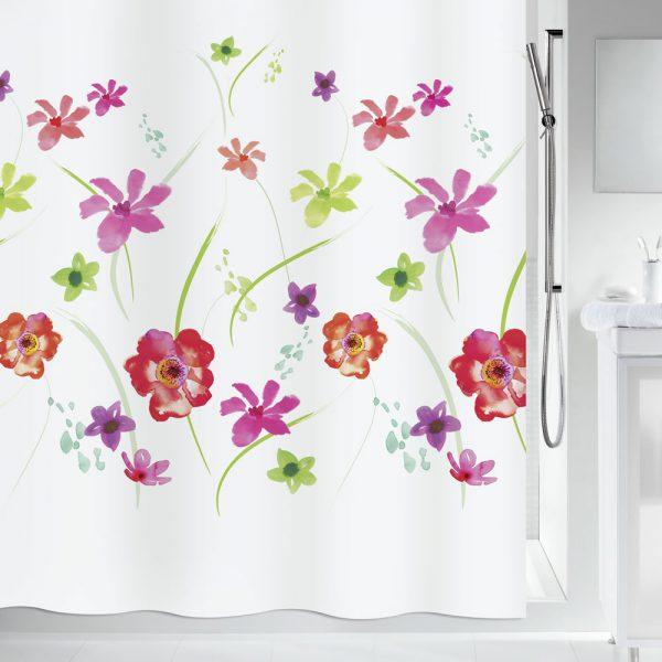 Duschvorhang Spirella Flower Meadow Textil