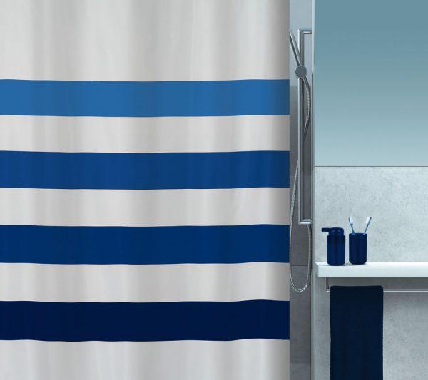 Duschvorhang Spirella Four Textil