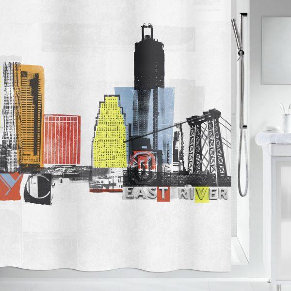 Duschvorhang Spirella Gotham Textil