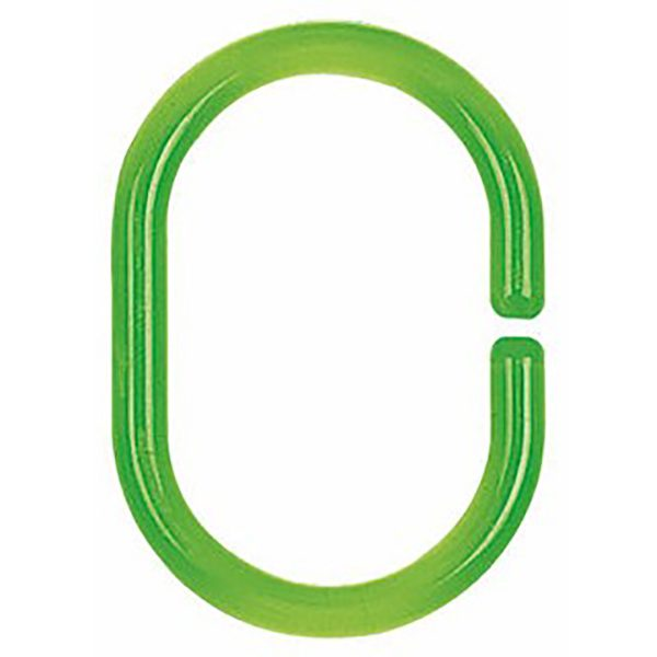 Duschvorhang-Ring Spirella Minor clear-green