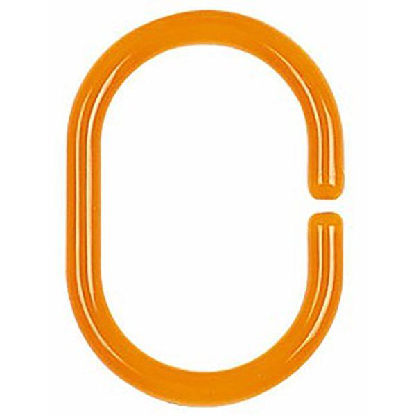 Duschvorhang-Ring Spirella Minor clear-orange